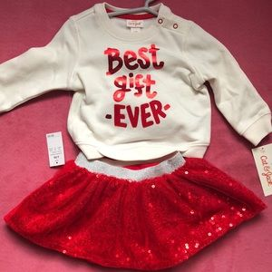 NWT baby girl Christmas outfit 6-9 month